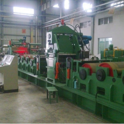 Stainless steel multi-roller tension leveling line